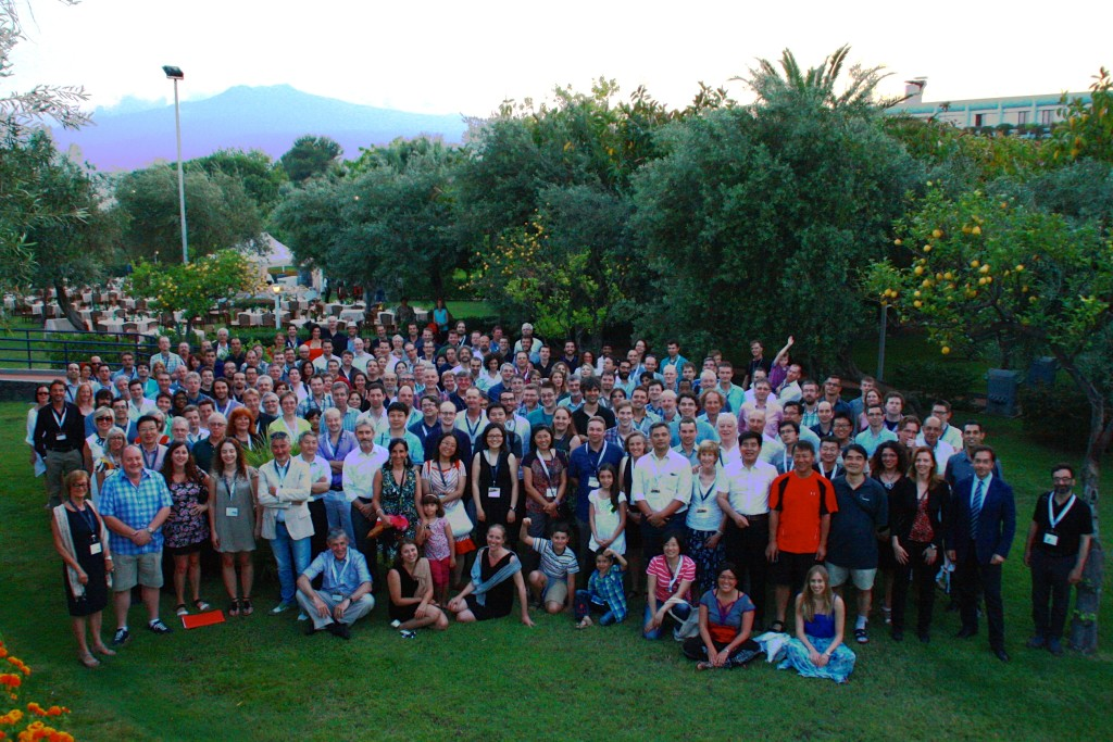 "Participants at the conference ""Advancing Astrophysics with the SKA"" in 2014"