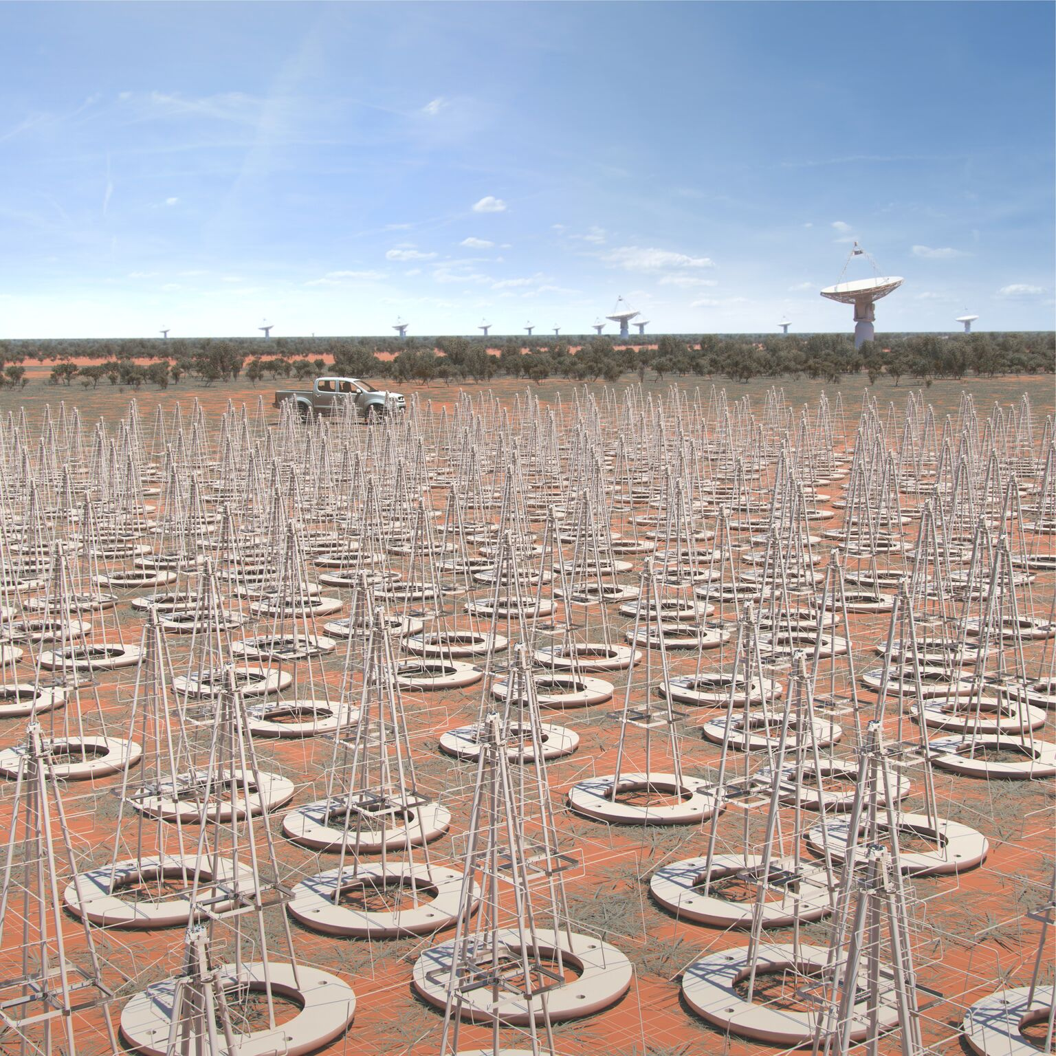 artists rendition of SKA-LOW antennas